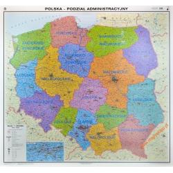 Polska administracyjna 164x148cm. Mapa ścienna.