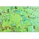 Wielkopolskie ogólnogeograficznaa/krajobrazowa 160x120cm. Mapa ścienna dwustronna.
