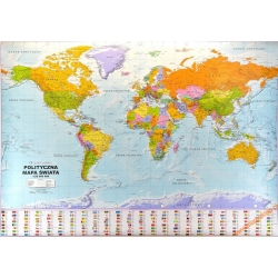 Świat polityczny 205x140cm. Mapa ścienna.