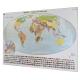 Świat konturowy do ćwiczeń 200x140cm. Mapa magnetyczna.