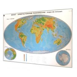 Świat fizyczny - ukształtowanie powierzchni - do ćwiczeń 200x140 cm. Mapa magnetyczna.