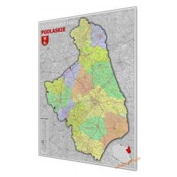 Podlaskie administracyjno-drogowa 97x135cm. Mapa do wpinania.