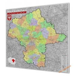 Mazowieckie 100x120 cm. Mapa w ramie aluminiowej.