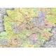 Śląskie administracyjno-drogowa 104x116cm. Mapa w ramie aluminiowej.