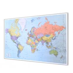 Świat polityczny - porty 139x90cm. Mapa do wpinania.