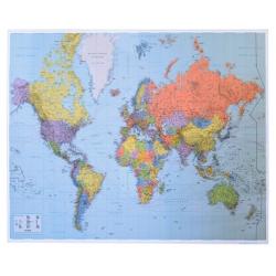 Świat polityczny-porty 146x90cm. Mapa ścienna.