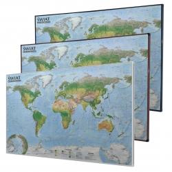 Świat Krajobrazowy 138x95cm. Mapa do wpinania.
