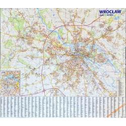 Wrocław/plan miasta 142x120 cm. Mapa ścienna.