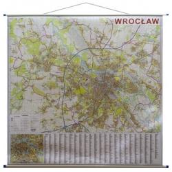 Wrocław-plan miasta 156x144cm. Mapa ścienna