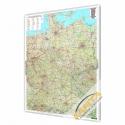 Niemcy Drogowa 94x127cm. Mapa magnetyczna.