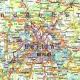 Niemcy Drogowa 94x127cm. Mapa do wpinania.