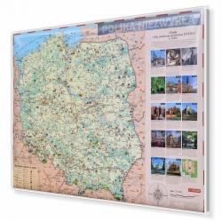 Polska Niezwykła dla dzieci 144x98cm. Mapa w ramie aluminiowej.