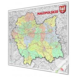 Małopolskie 100x 120cm. Mapa w ramie aluminiowej.