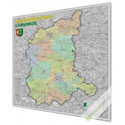 Lubuskie administracyjno-drogowa 100x120 cm. Mapa do wpinania.