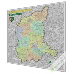 Lubuskie administracyjno-drogowa 100x120cm. Mapa magnetyczna.