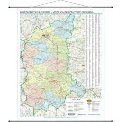 Mapa woj. Lubuskie 90x115cm.Mapa scienna