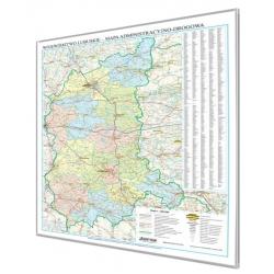 Lubuskie administracyjno-drogowa 90x115cm. Mapa do wpinania.