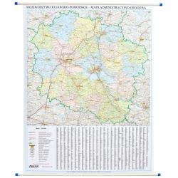 Województwo Kujawsko-Pomorskie 96x133cm.Mapa ścienna