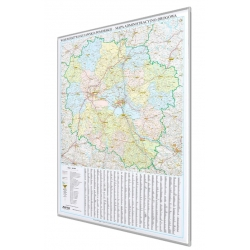 Kujawsko-Pomorskie 96x133 cm. Mapa do wpinania.