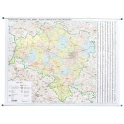 M-DR Woj. Dolnośląskie 1:200 tys. EKO Mapa 130x120cm adm-drog