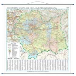 Małopolskie/Małopolska administracyjno-drogowa 102x98 cm. Mapa ścienna.