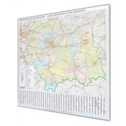 Małopolskie 105x99 cm. Mapa w ramie aluminowej.