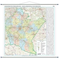 Podkarpackie administracyjno-drogowa 100x120 cm. Mapa ścienna.