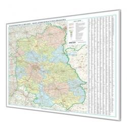 Lubelskie administracyjno-drogowa 105x131cm. Mapa magnetyczna.