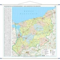 Zachodniopomorskie administracyjna 128x133 cm. Mapa ścienna.