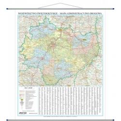 Świętokrzyskie administracyjno-drogowa 86x107 cm. Mapa ścienna.