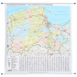 Pomorskie administracyjno-drogowa 143x100 cm. Mapa ścienna.