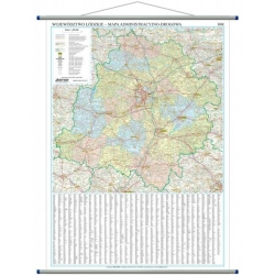 M-DR Woj. Łódzkie 1:200 Ekograf Mapa ścienna 103x114cm adm-drog.