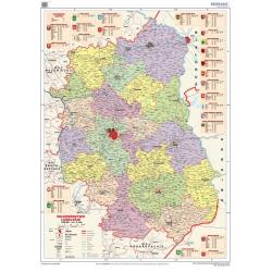Lubelskie administracyjna 120x160 cm. Mapa ścienna.