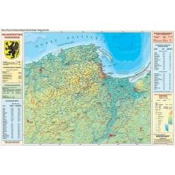 Pomorskie fizyczno/ekolgiczna 160x120 cm. Mapa ścienna.