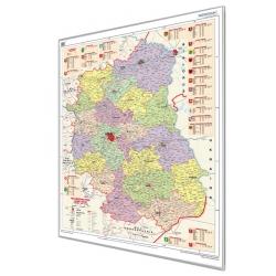 Lubelskie administracyjna 122x155cm. Mapa magnetyczna.