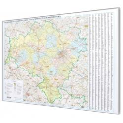 Dolnośląskie administracyjno-drogowa 144x108cm. Mapa do wpinania.