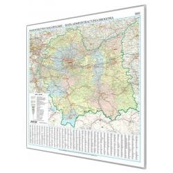 Małopolskie administracyjno-drogowa 102x102cm. Mapa magnetyczna.