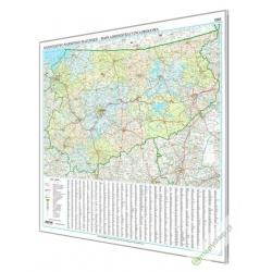 Warmińsko-Mazurskie administracyjno-drogowa 144x120cm. Mapa magnetyczna.