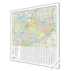 Świętokrzyskie administracyjno-drogowa 88,5x105cm. Mapa do wpinania