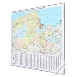 Pomorskie 106x121 cm. Mapa w ramie aluminiowej.