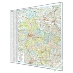 Wielkopolskie 144x160 cm. Mapa w ramie aluminiowej.