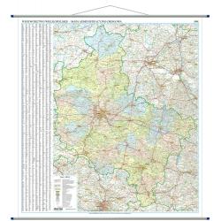 Wielkopolskie administracyjno-drogowa 144x160 cm. Mapa ścienna.