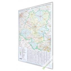 Opolskie administracyjno-drogowa 76x112cm. Mapa do wpinania.