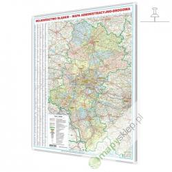 Śląskie administracyjno-drogowa 92x108cm. Mapa do wpinania.