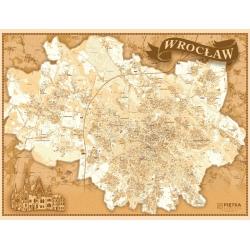 Wrocław - plan miasta stylizowany 140x105cm. Mapa ścienna.
