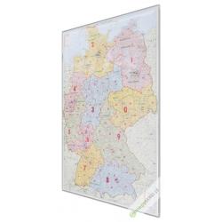 Niemcy kodowe 130x170 cm. Mapa do wpinania.