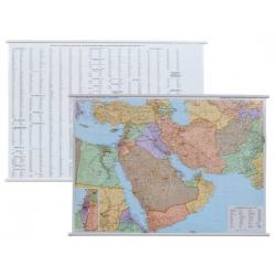Bliski Wschód polityczno-drogowa 132x90cm. Mapa ścienna.