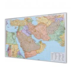 Bliski Wschód polityczno-drogowa 132x90cm. Mapa magnetyczna.