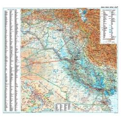 M-DR Irak fizyczno -drog.1:750tys. GiziM Mapa scienna 80x68cm