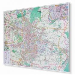 Łódź - plana miasta 120x96cm. Mapa w ramie aluminiowej.